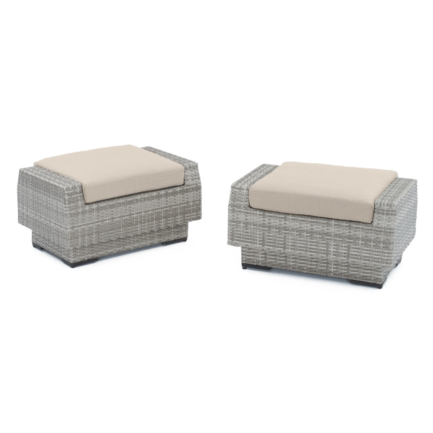 Cannes™ Club Ottomans - Slate Grey