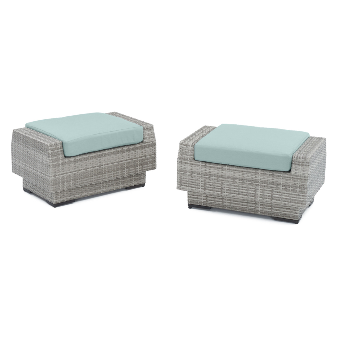 Cannes™ Club Ottomans - Spa Blue