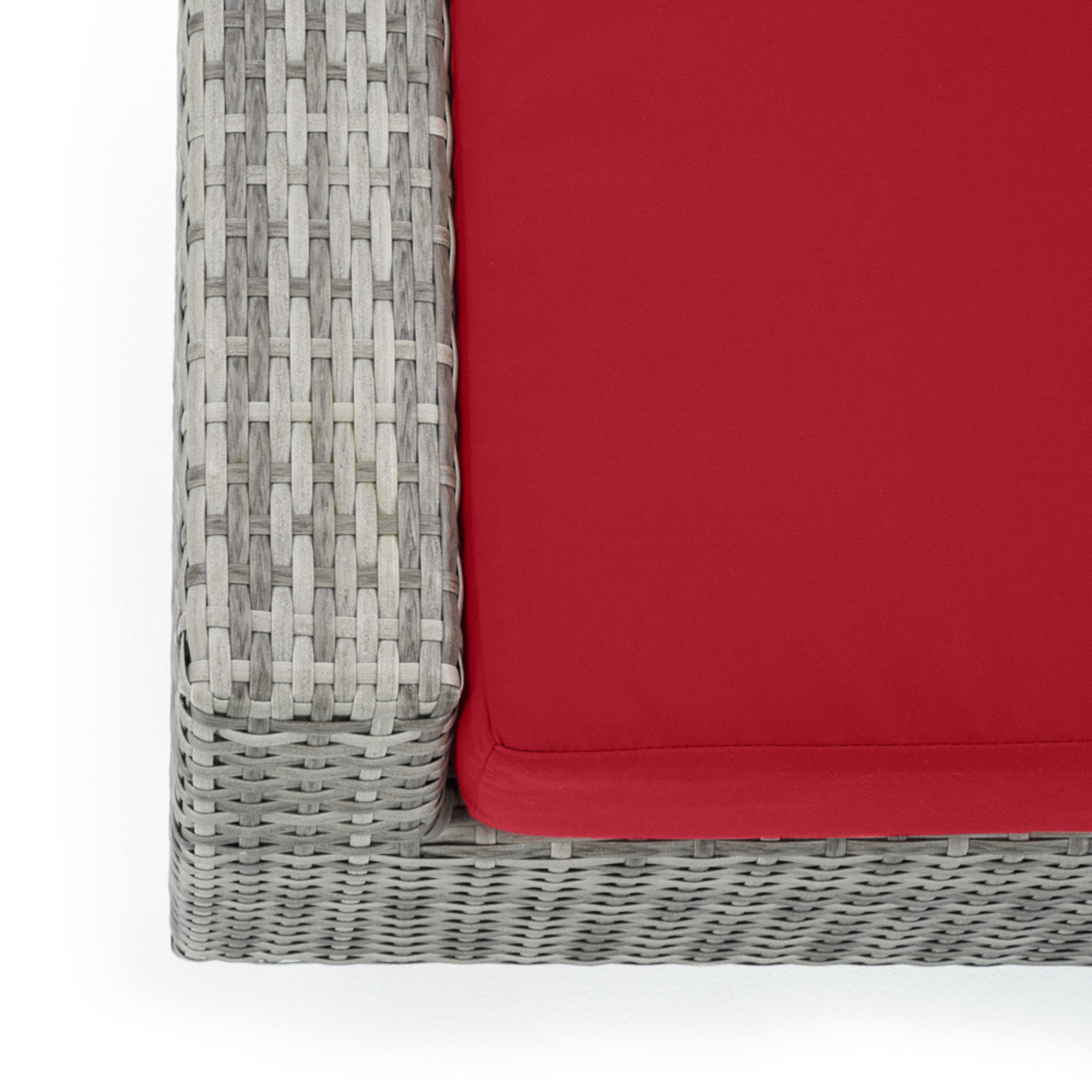 Cannes™ Club Ottomans - Sunset Red