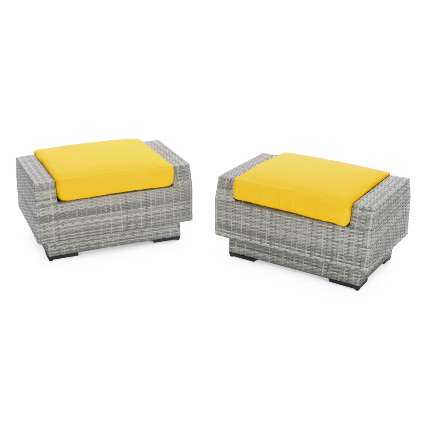 Cannes™ Club Ottomans - Sunflower Yellow