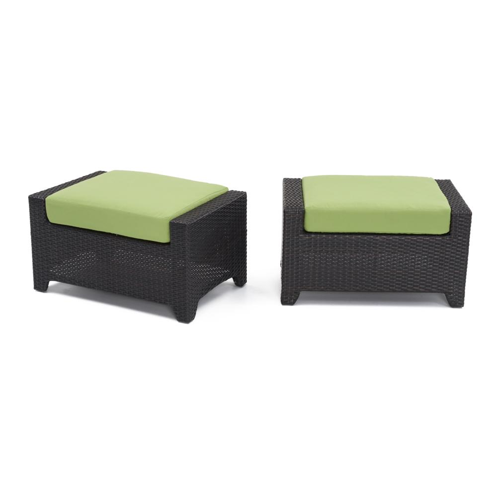 Deco Club Ottomans   Ginkgo Green