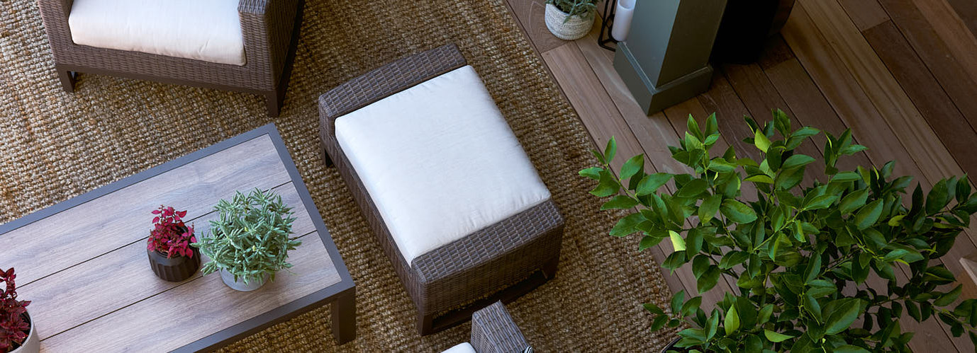 Milea™ Ottomans - Natural Beige