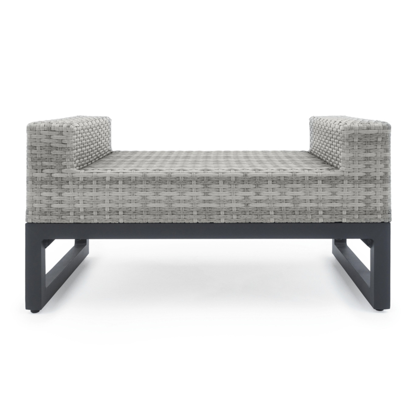 Milo™ Gray Ottomans - Sunset Red