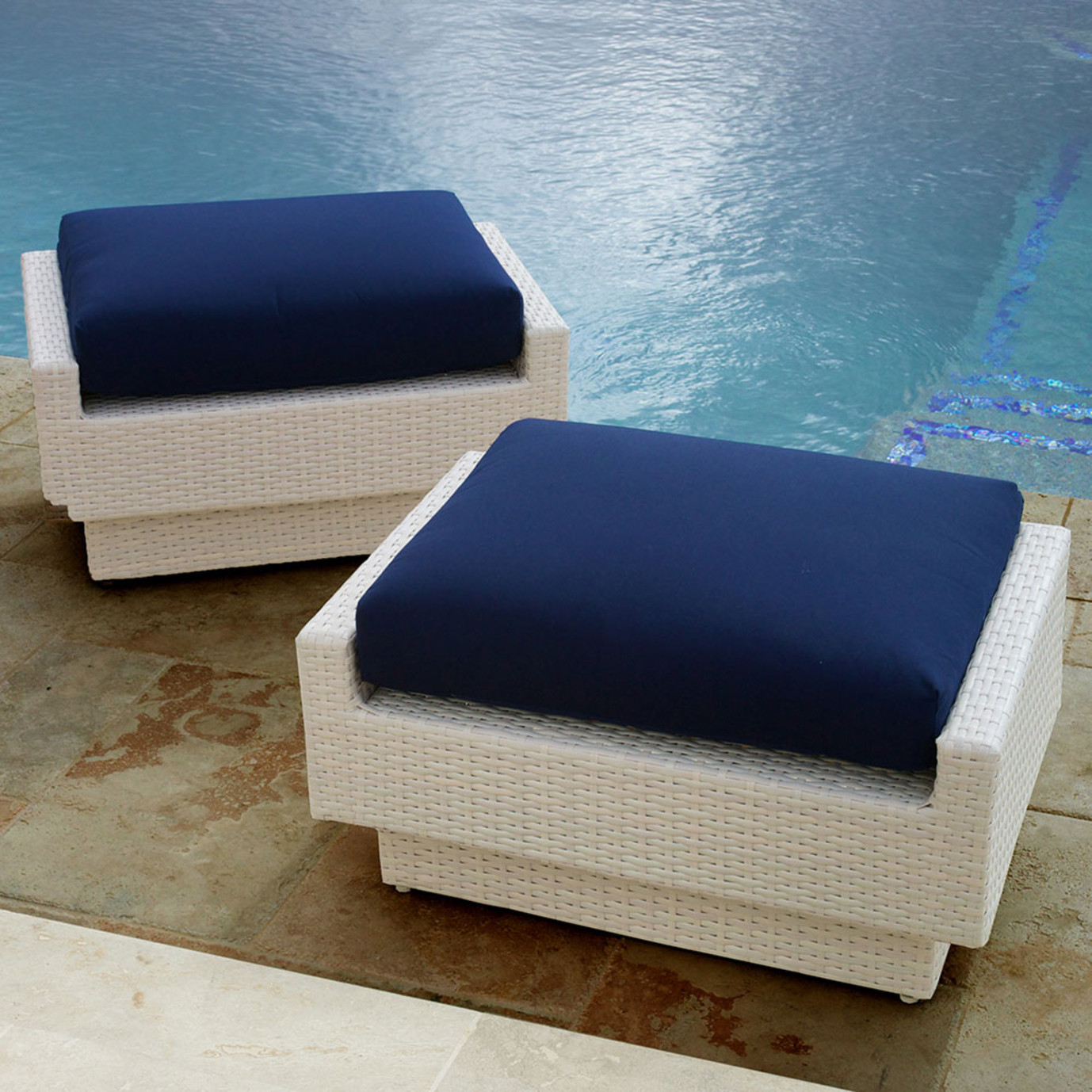 Portofino™ Comfort Club Ottomans - Newport Blue