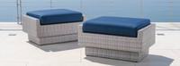 Portofino® Comfort Club Ottomans - Laguna Blue