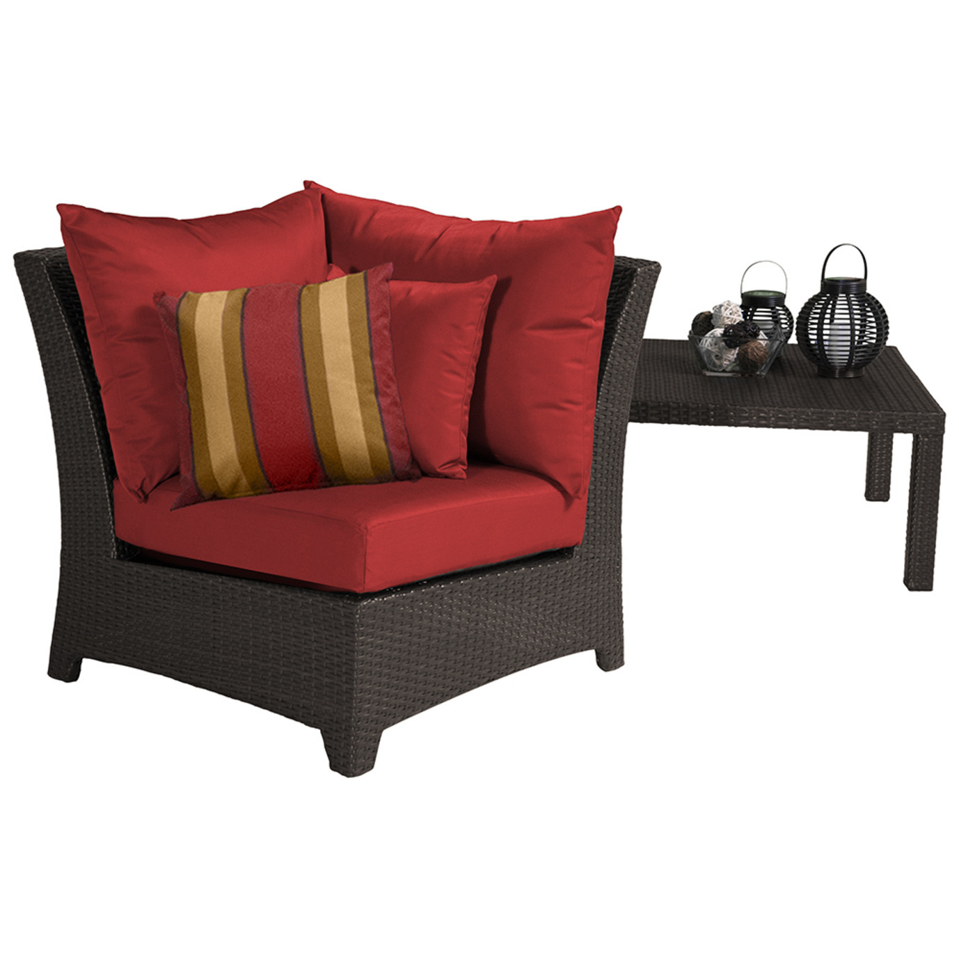 Deco corner chair cantina red rst brands