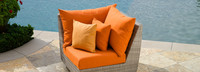 Cannes™ Corner Chair - Cast Coral