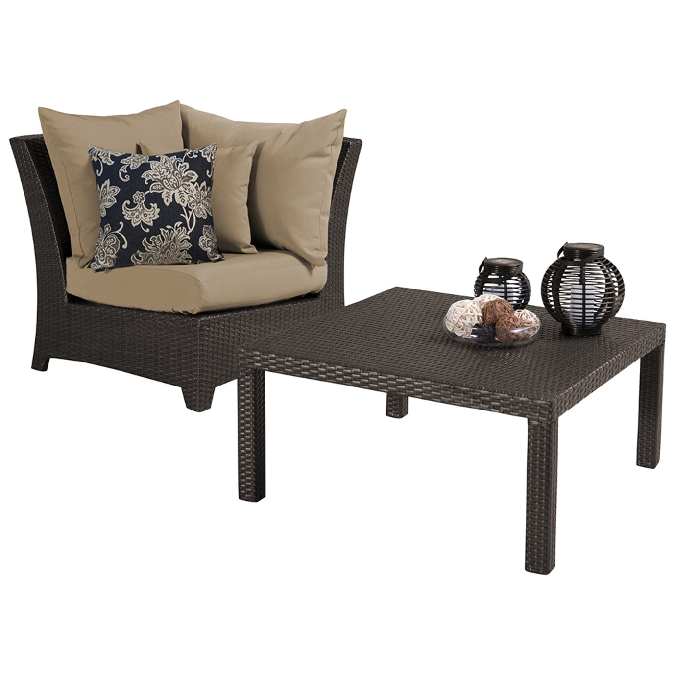 Deco Corner with Table - Delano Beige