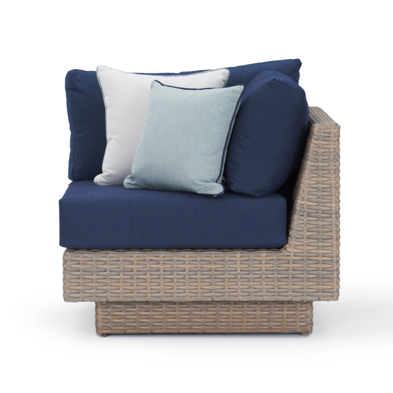 Portofino Repose Corner Chair - Laguna Blue