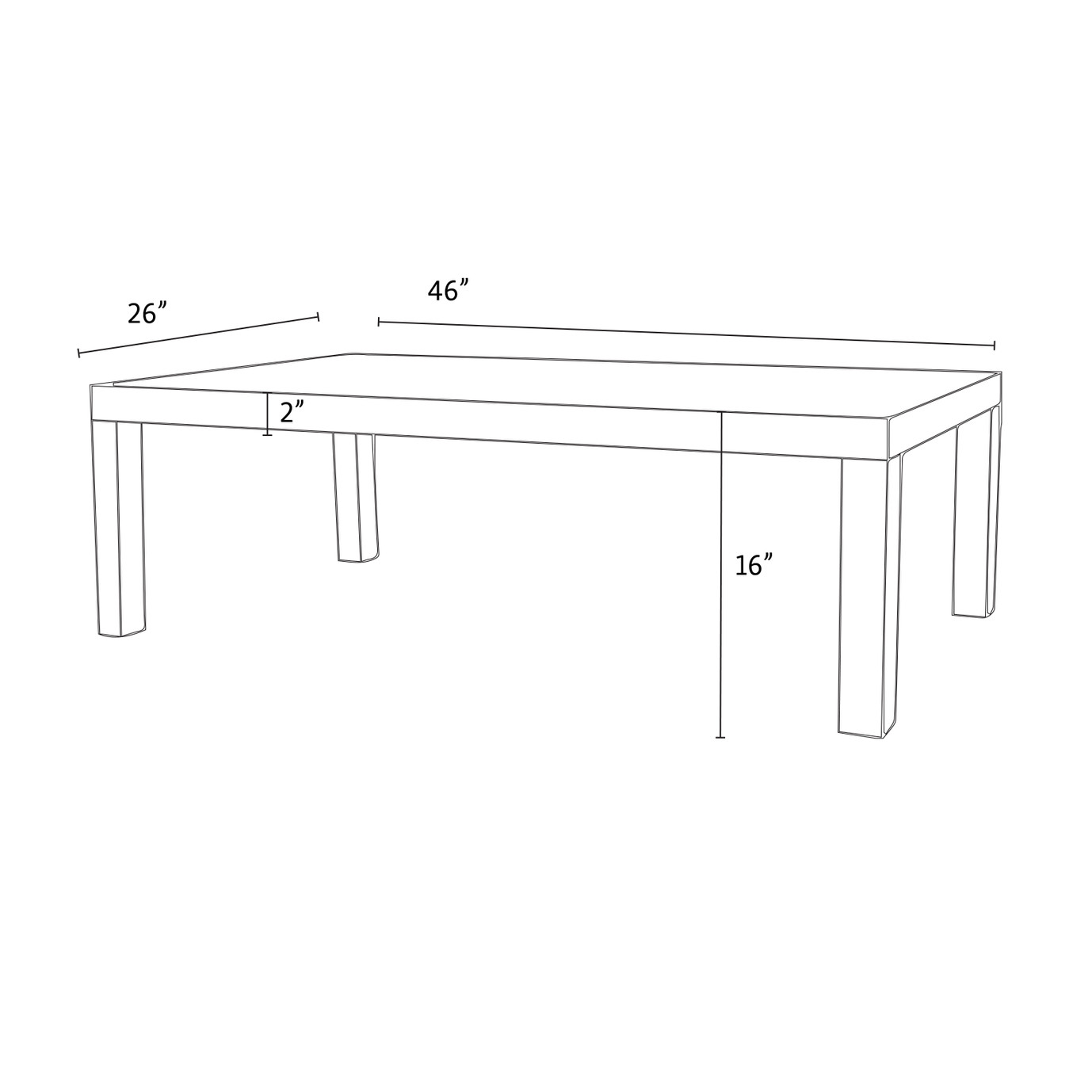 Cannes™ 26X46 Woven Coffee Table