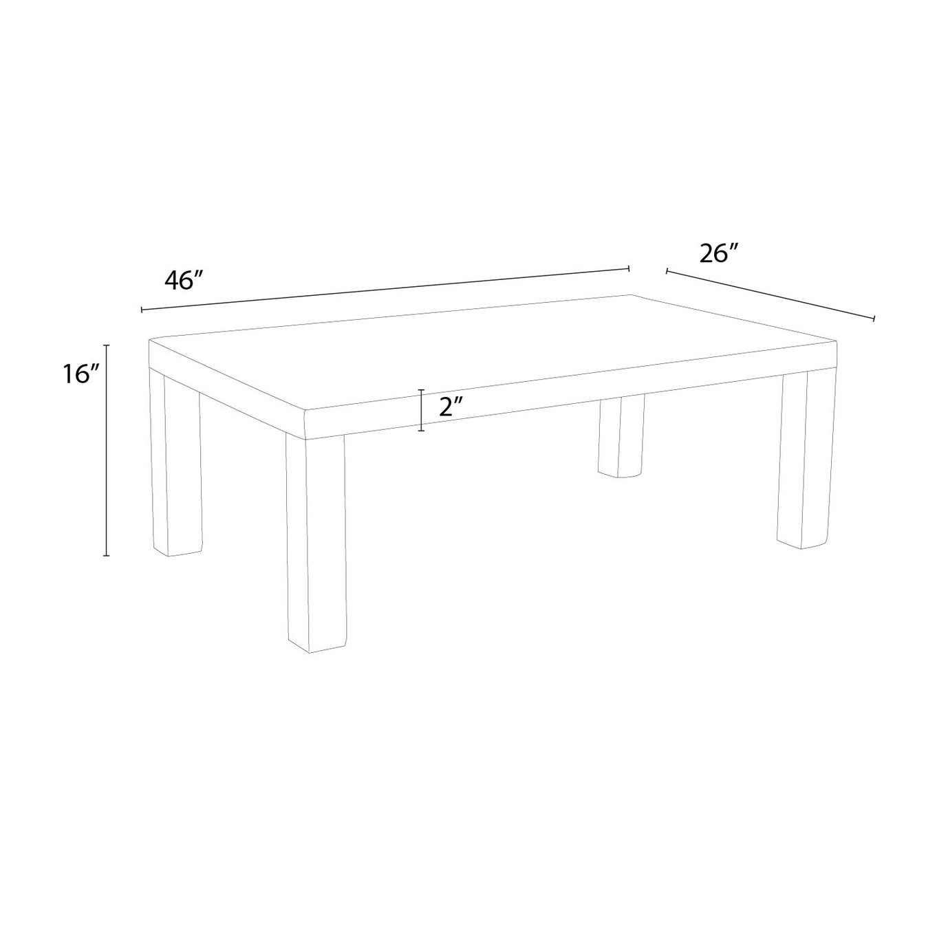 Deco™ 26x46 Coffee Table