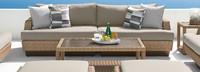 Portofino® Prestige 27x46 Aluminum Coffee Table - Sand