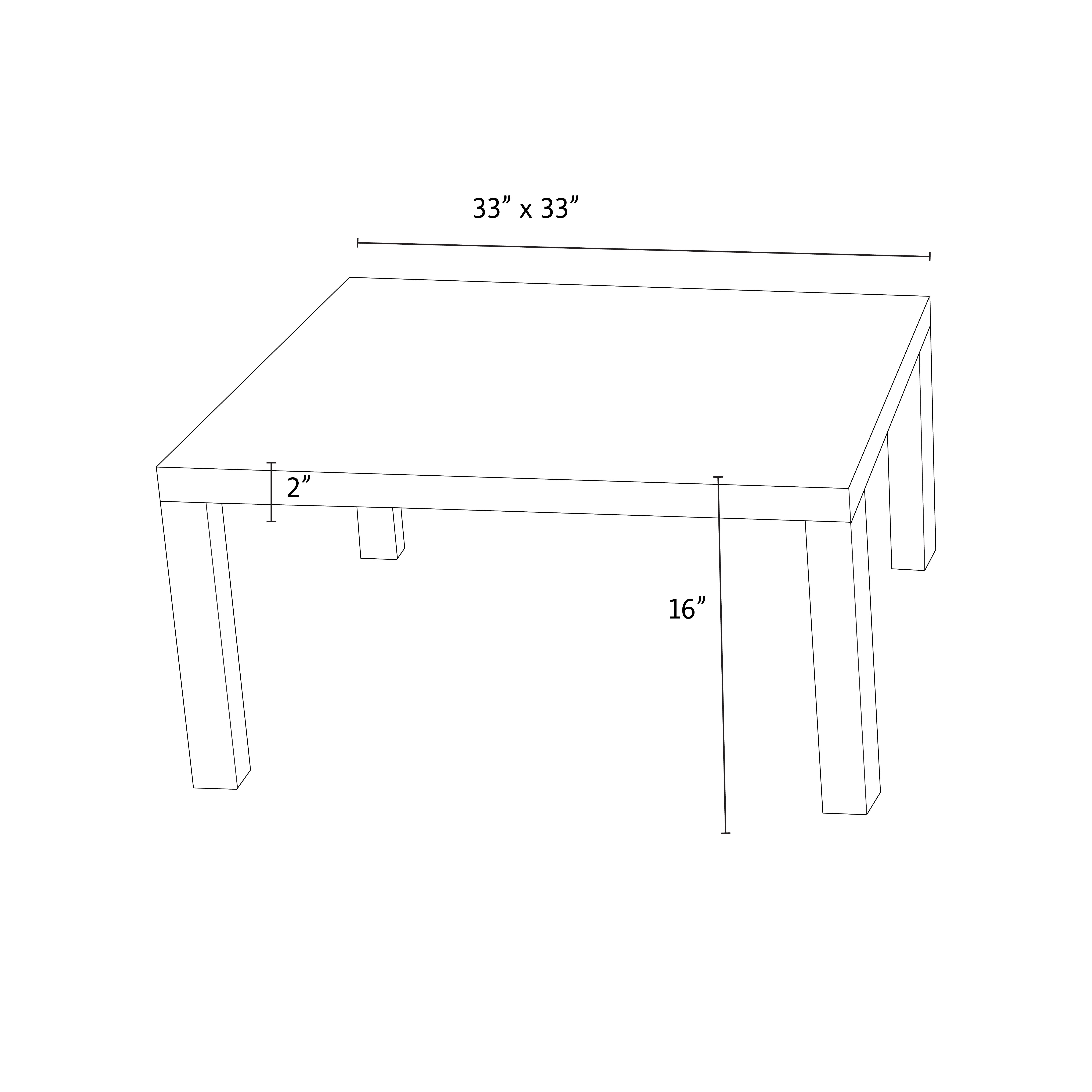 Cannes™ 33 Inch Square Conversation Table ...