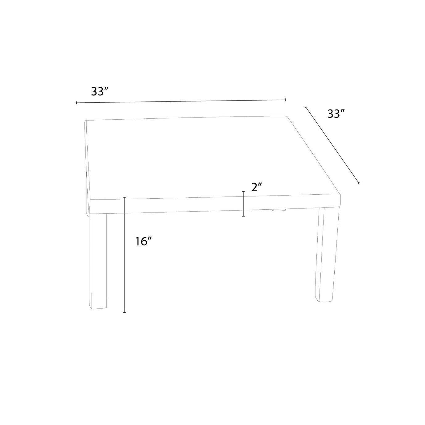 Deco™ 33in Square Conversation Table