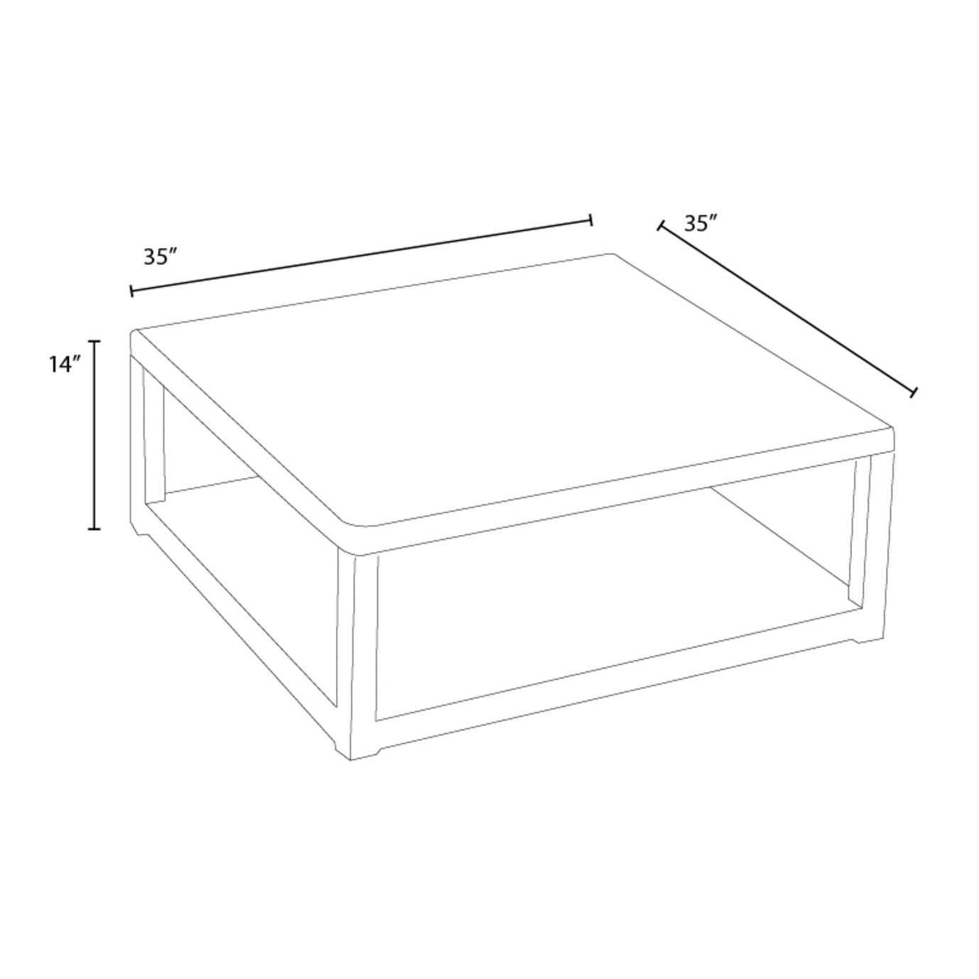 Portofino™ Comfort 35in Conversation Table - Grey