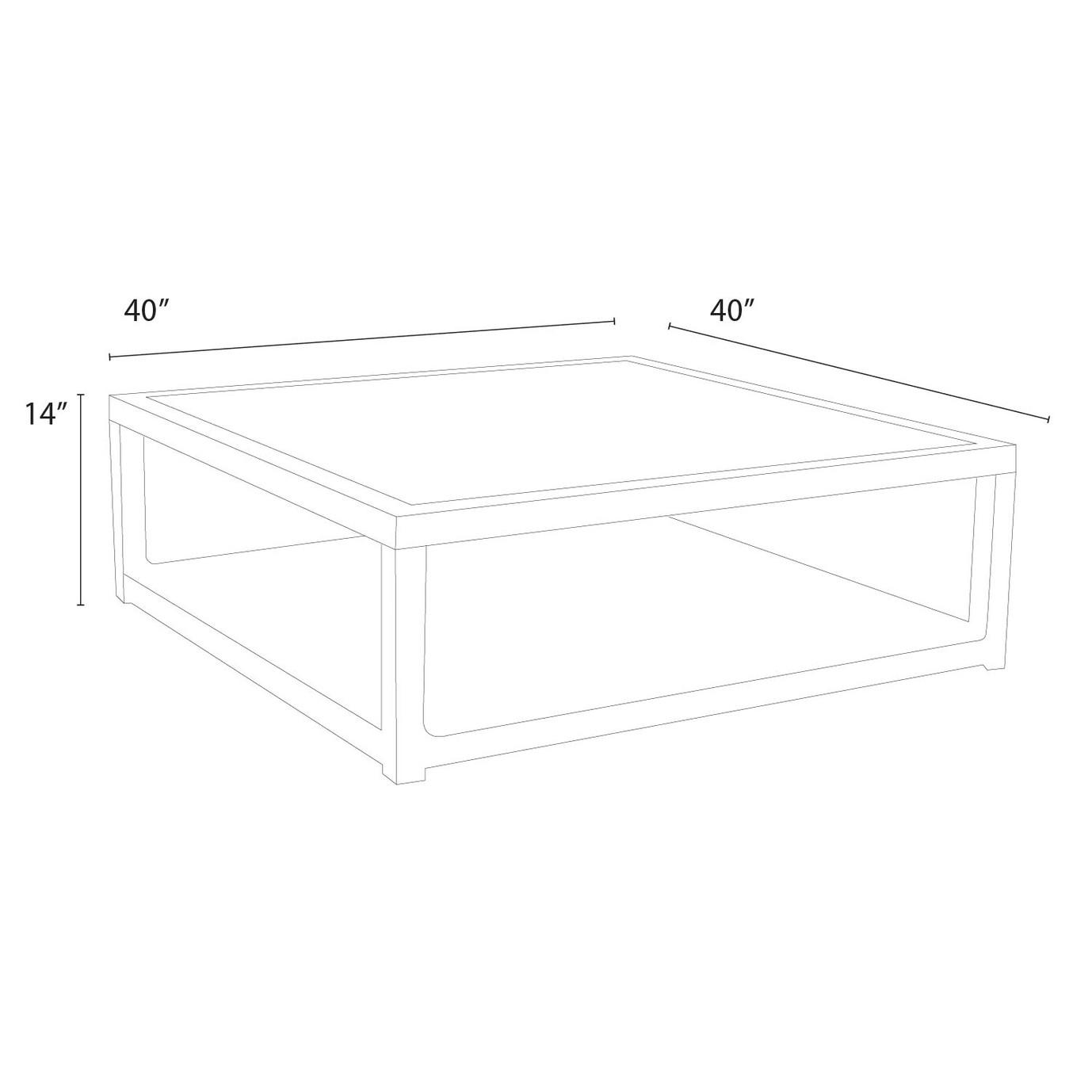 Portofino™ Comfort 40x40 Stone Top Conversation Table - Chalk