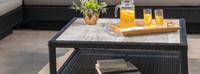 Portofino® Comfort Stone Top Conversation Table - Espresso Taupe