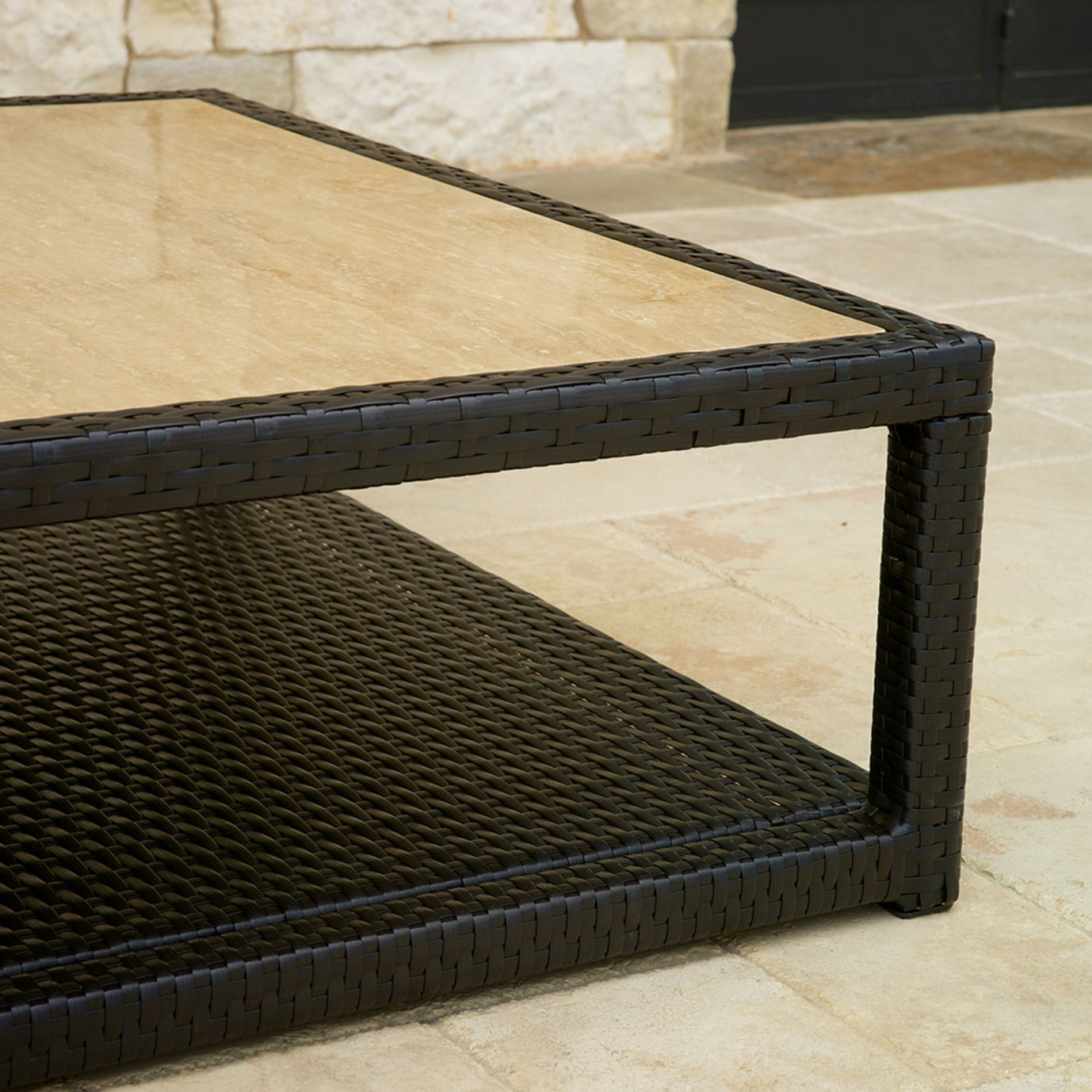 Portofino™ Comfort Stone Top Conversation Table - Espresso