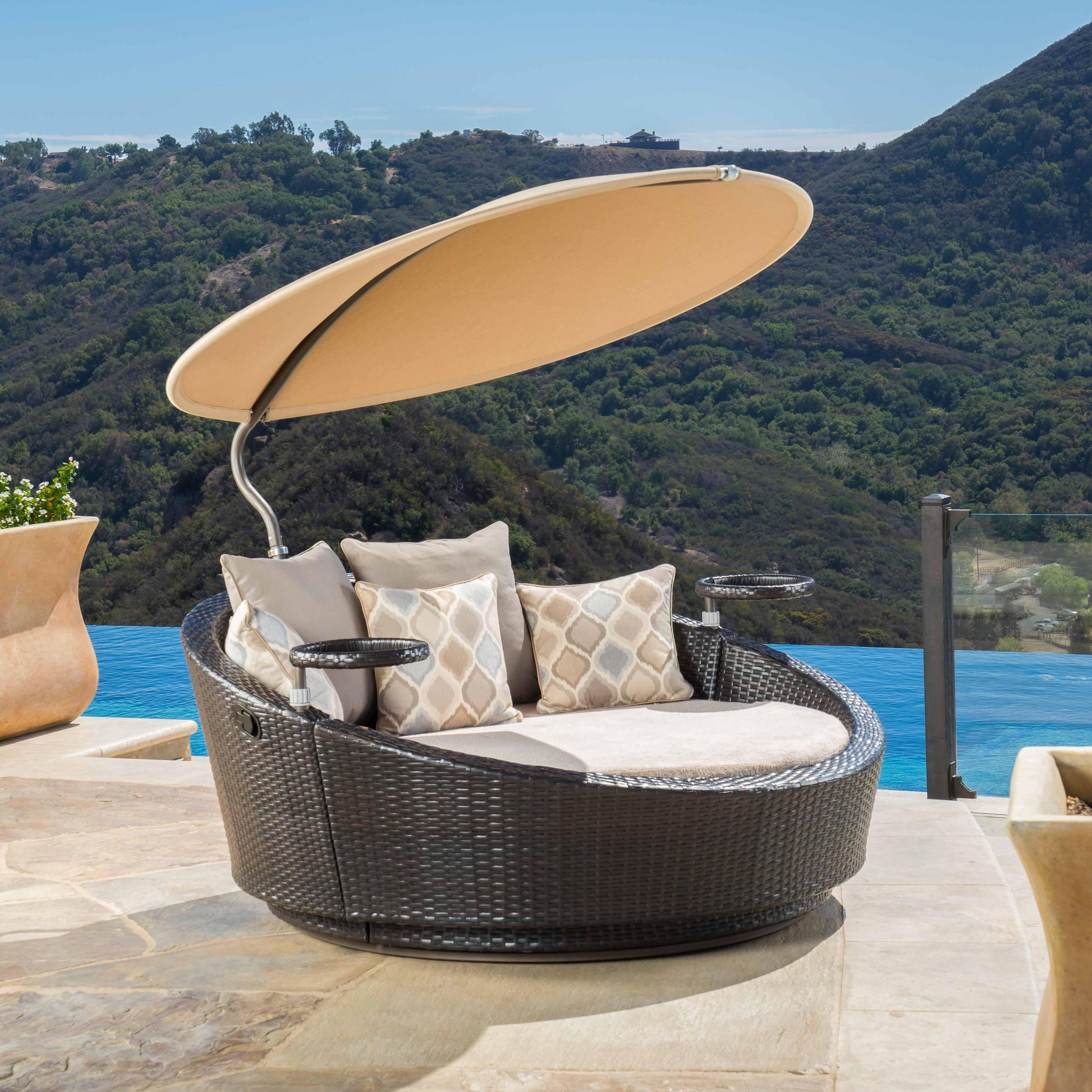 portofino comfort sundial day bed heather beige - Rst Brands