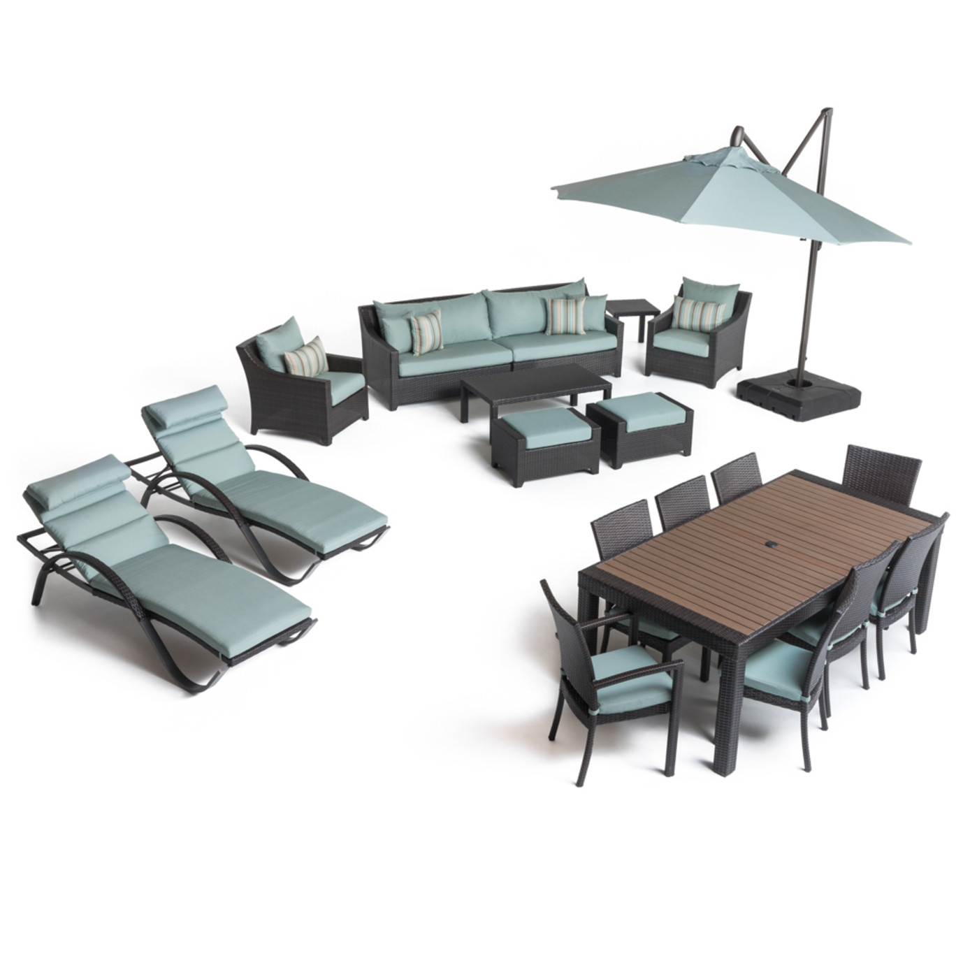 Deco™ 20 Piece Outdoor Estate Set - Bliss Blue