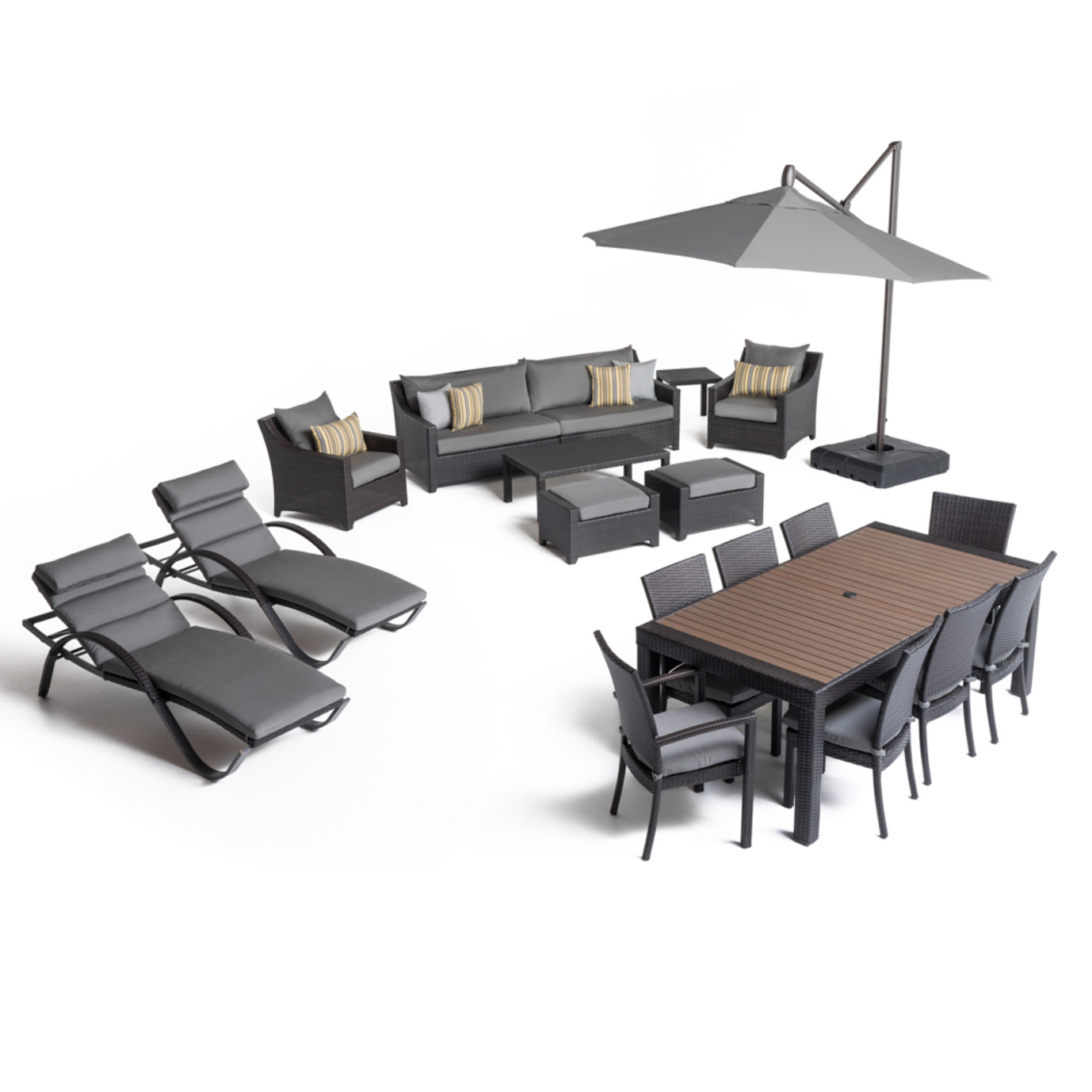 Deco™ 20 Piece Outdoor Estate Set - Charcoal Gray