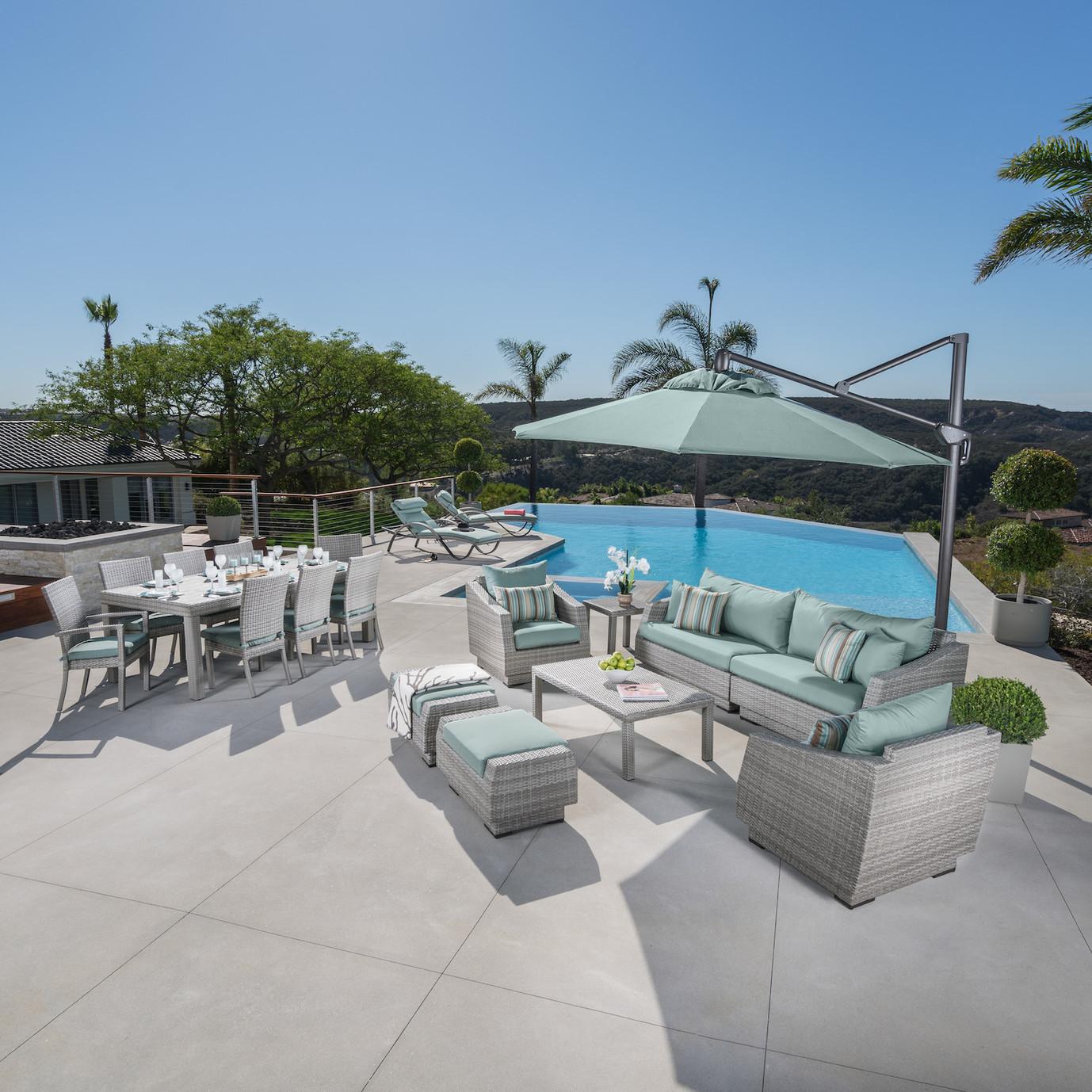 Cannes™ 20 Piece Outdoor Estate Set - Bliss Blue