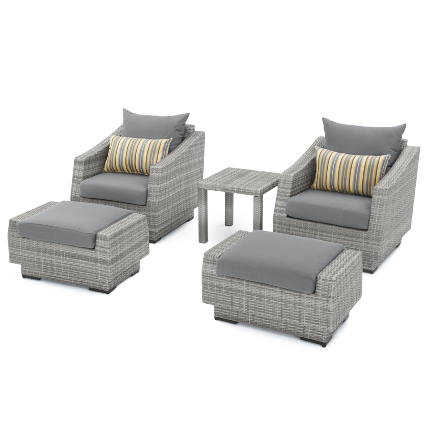 Cannes™ 20 Piece Outdoor Estate Set - Charcoal Gray