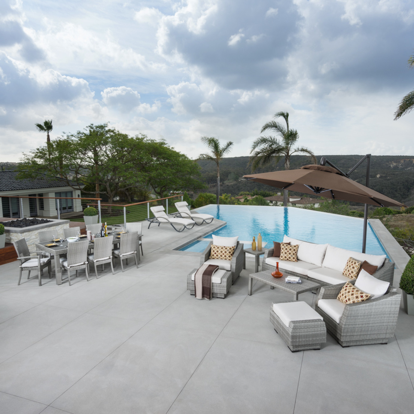 Cannes™ 20 Piece Outdoor Estate Set - Moroccan Cream