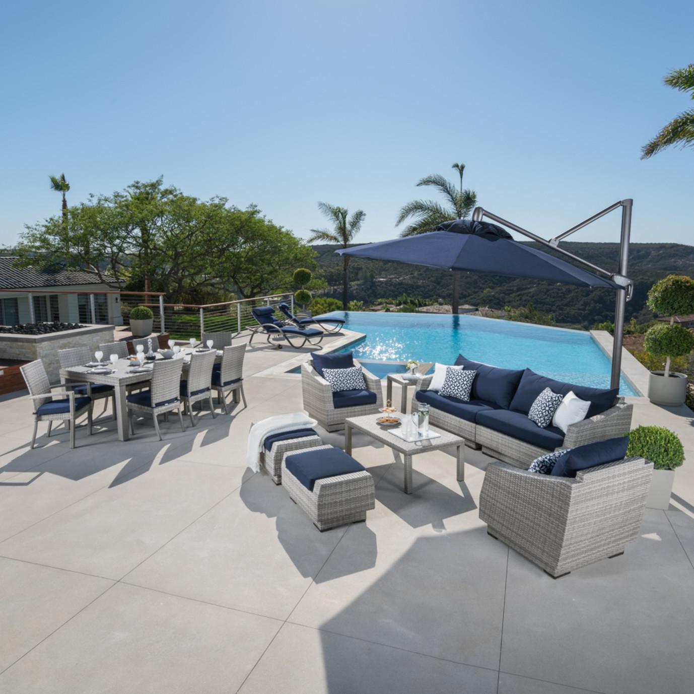 Cannes™ 20pc Outdoor Estate Set - Navy Blue