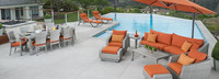 Cannes™ 20 Piece Outdoor Estate Set - Sunset Red