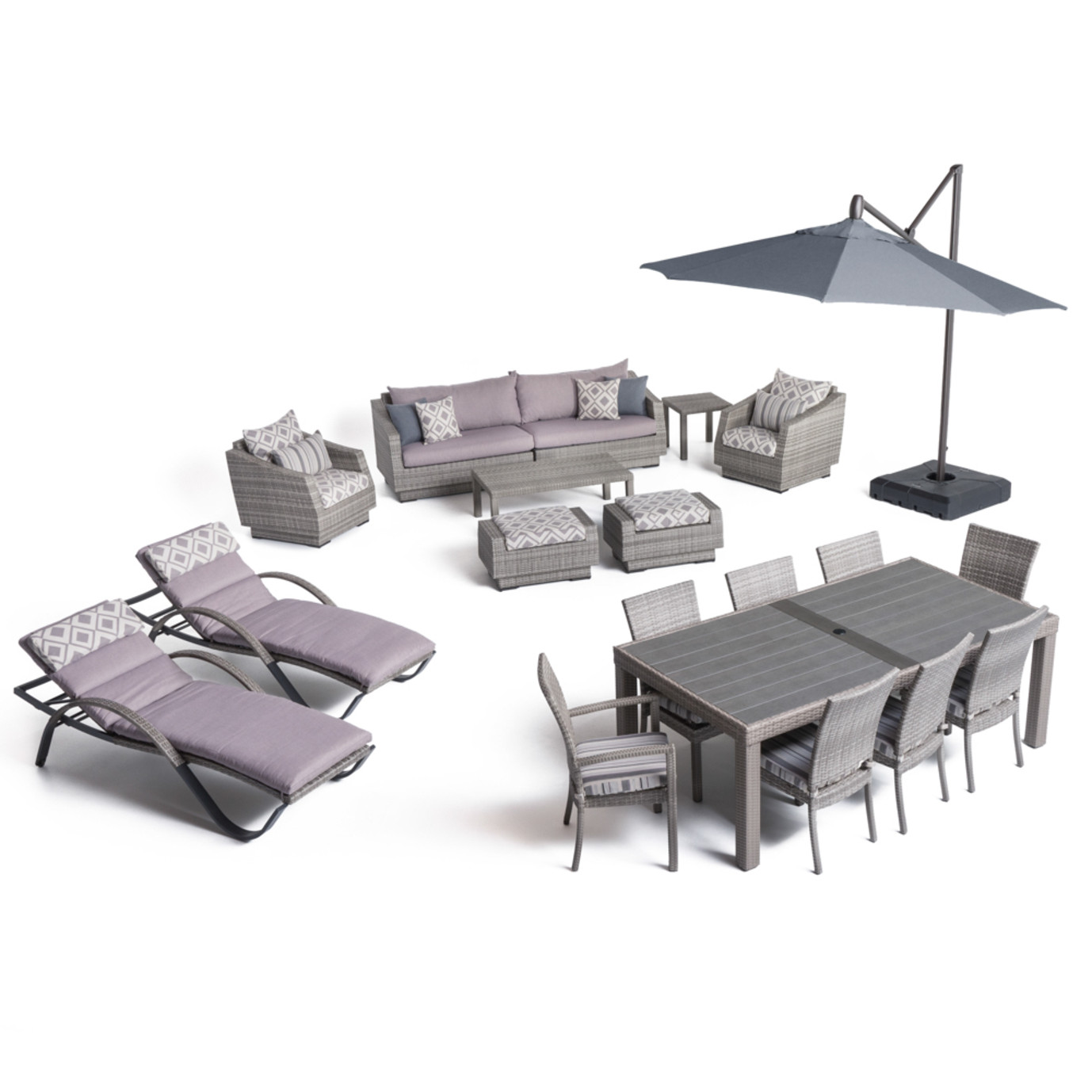 Cannes™ 20pc Outdoor Estate Set - Wisteria Lavender