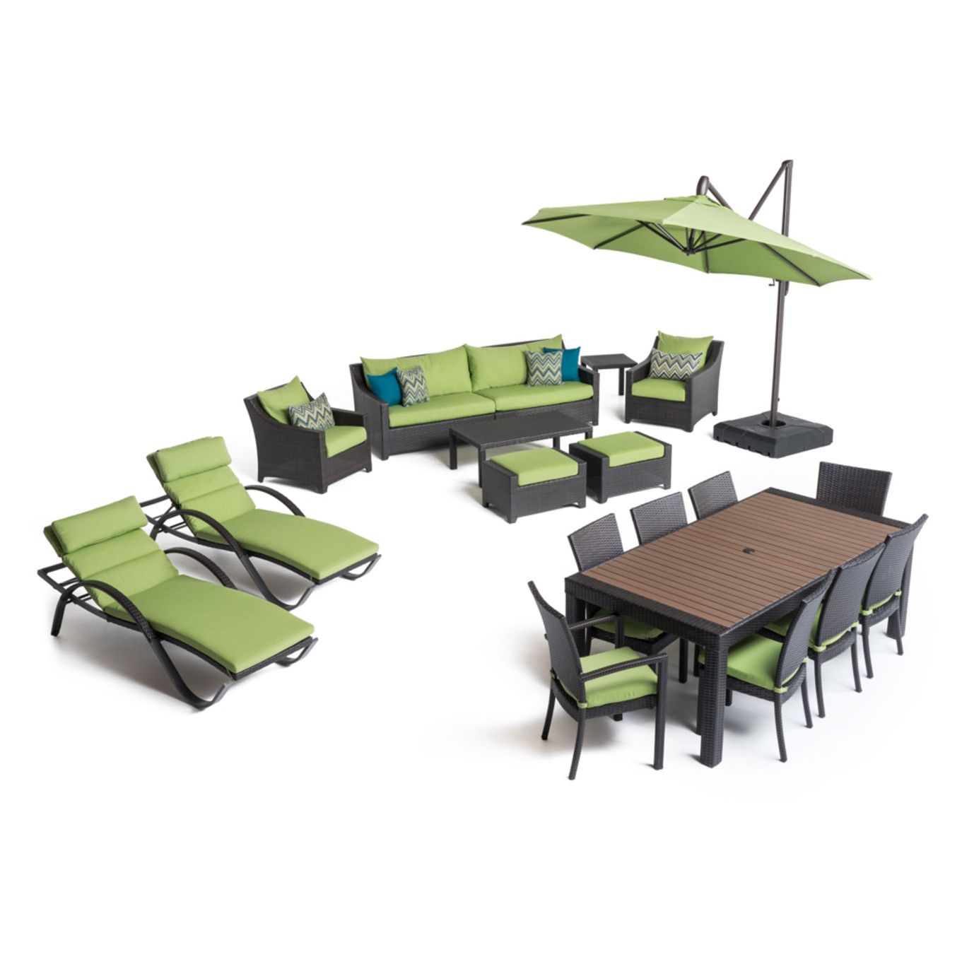 Deco™ 20 Piece Outdoor Estate Set - Ginkgo Green