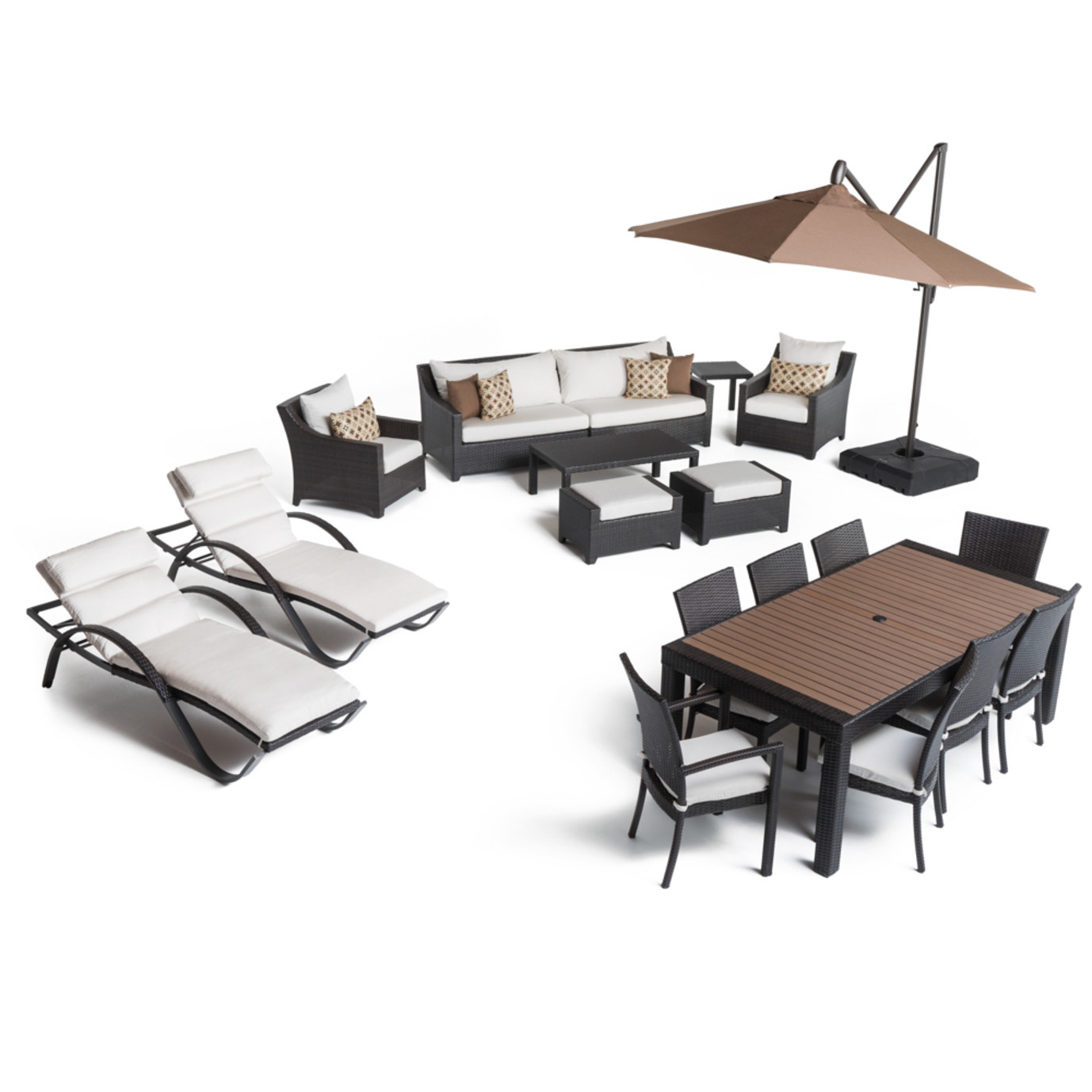 Deco™ 20pc Outdoor Estate Set - Moroccan Cream