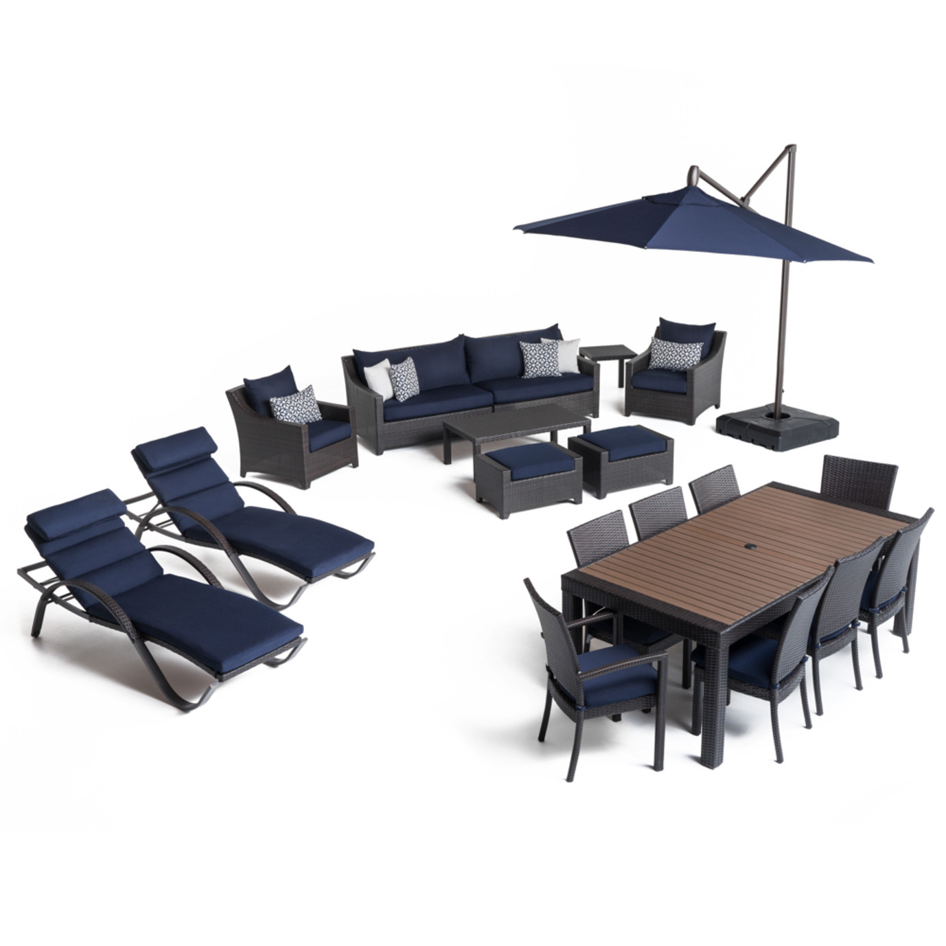 Deco™ 20 Piece Outdoor Estate Set - Navy Blue