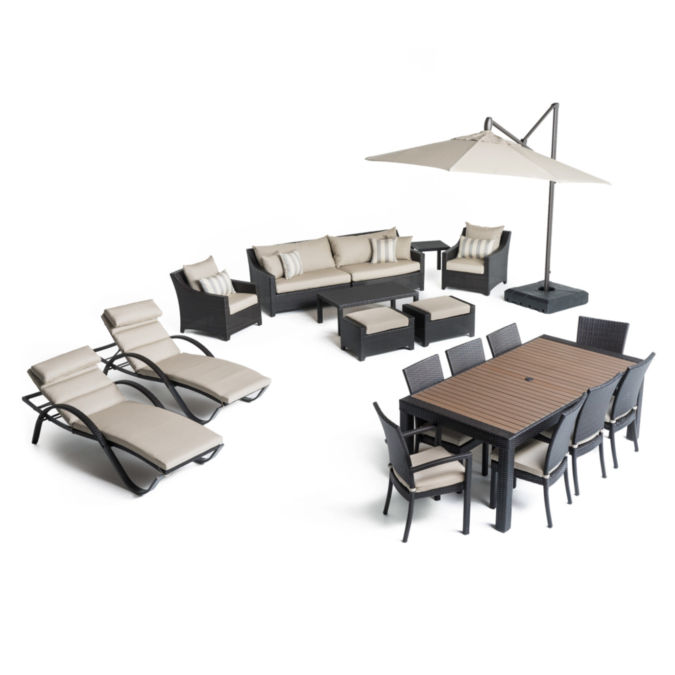 Deco™ 20pc Outdoor Estate Set - Slate Gray
