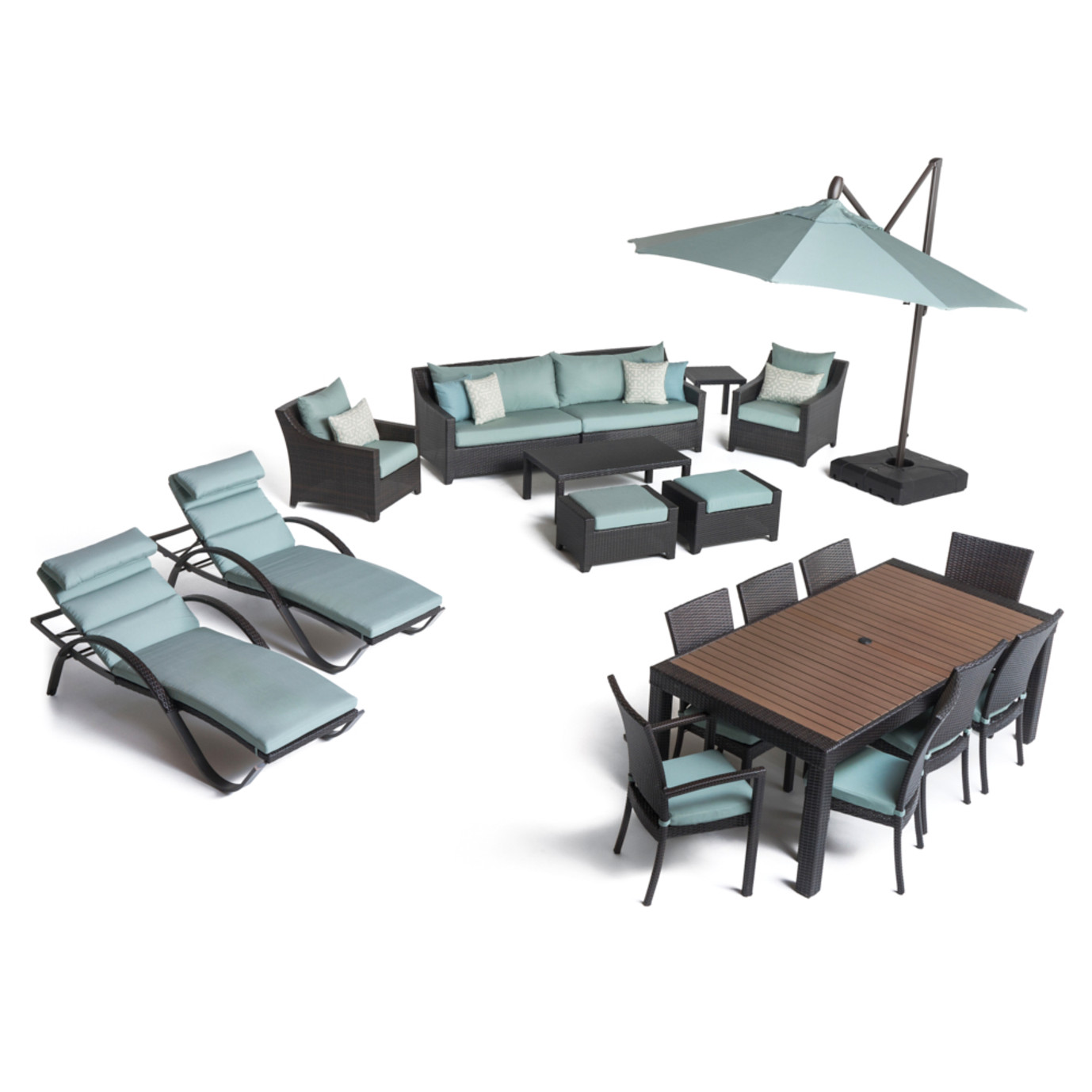 Deco™ 20 Piece Outdoor Estate Set - Spa Blue