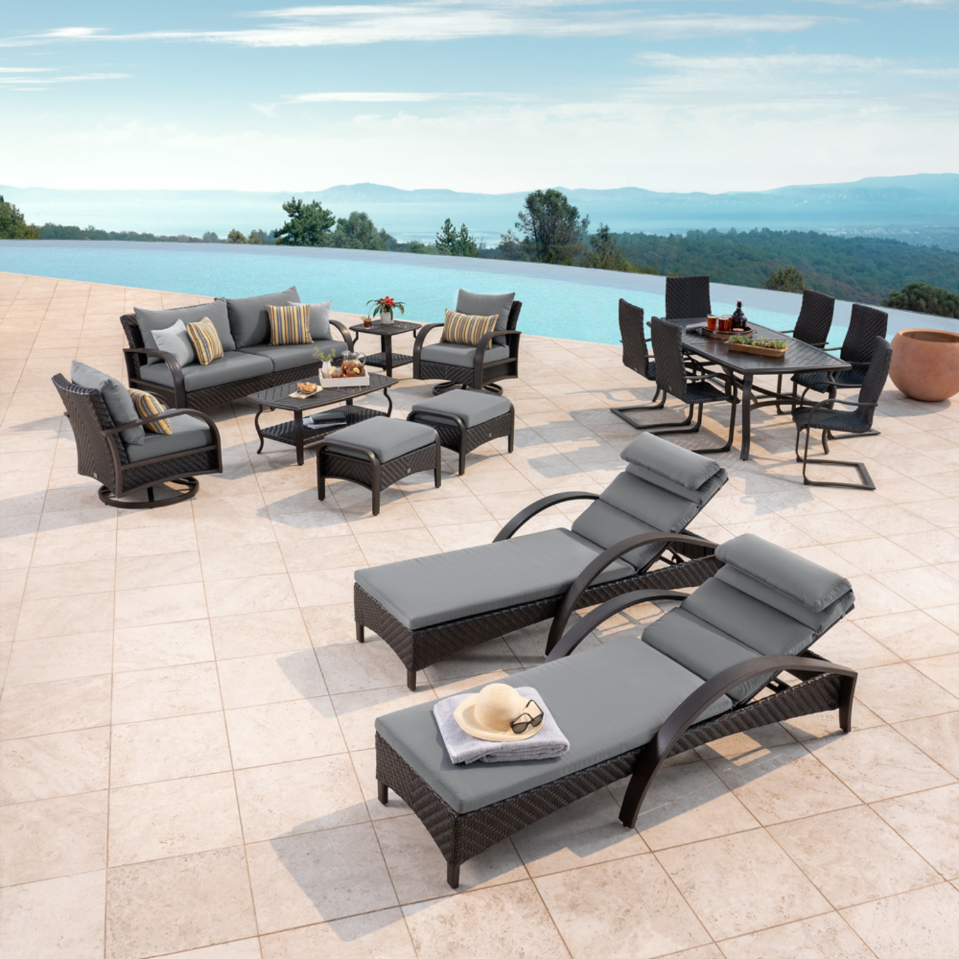 Barcelo™ 16pc Estate Collection - Charcoal Gray