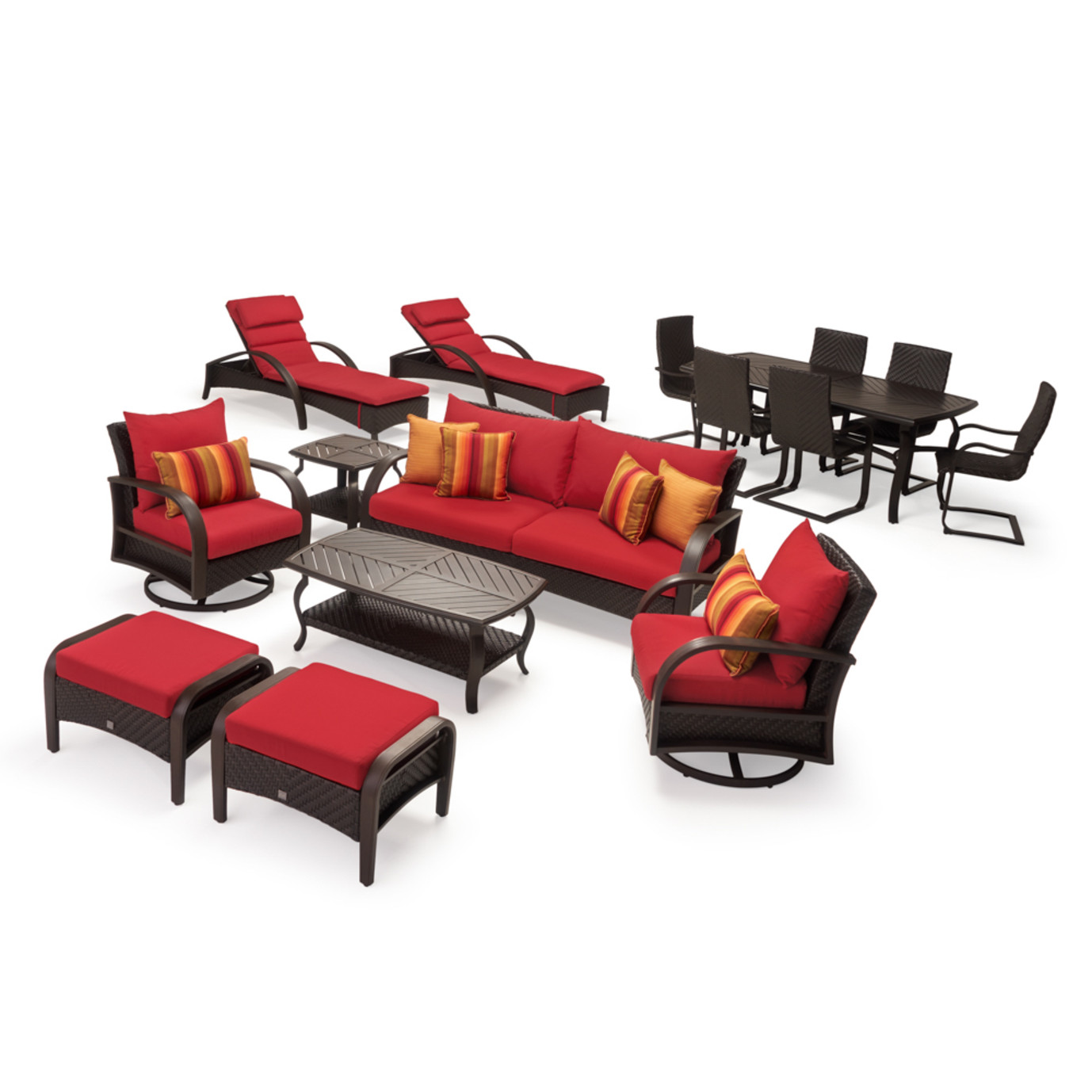 Barcelo™ 16pc Estate Collection - Sunset Red