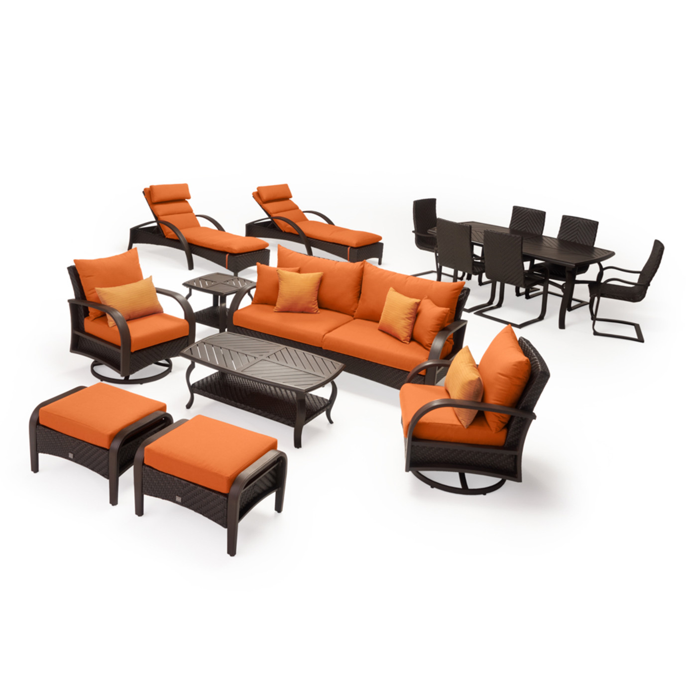 Barcelo 16pc Estate Collection - Tikka Orange