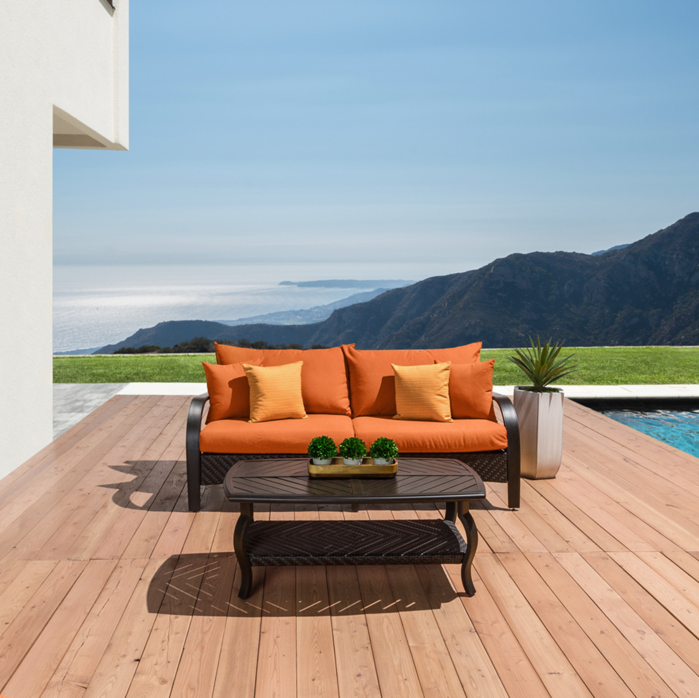 Barcelo 16pc Estate Collection - Tikka Orange