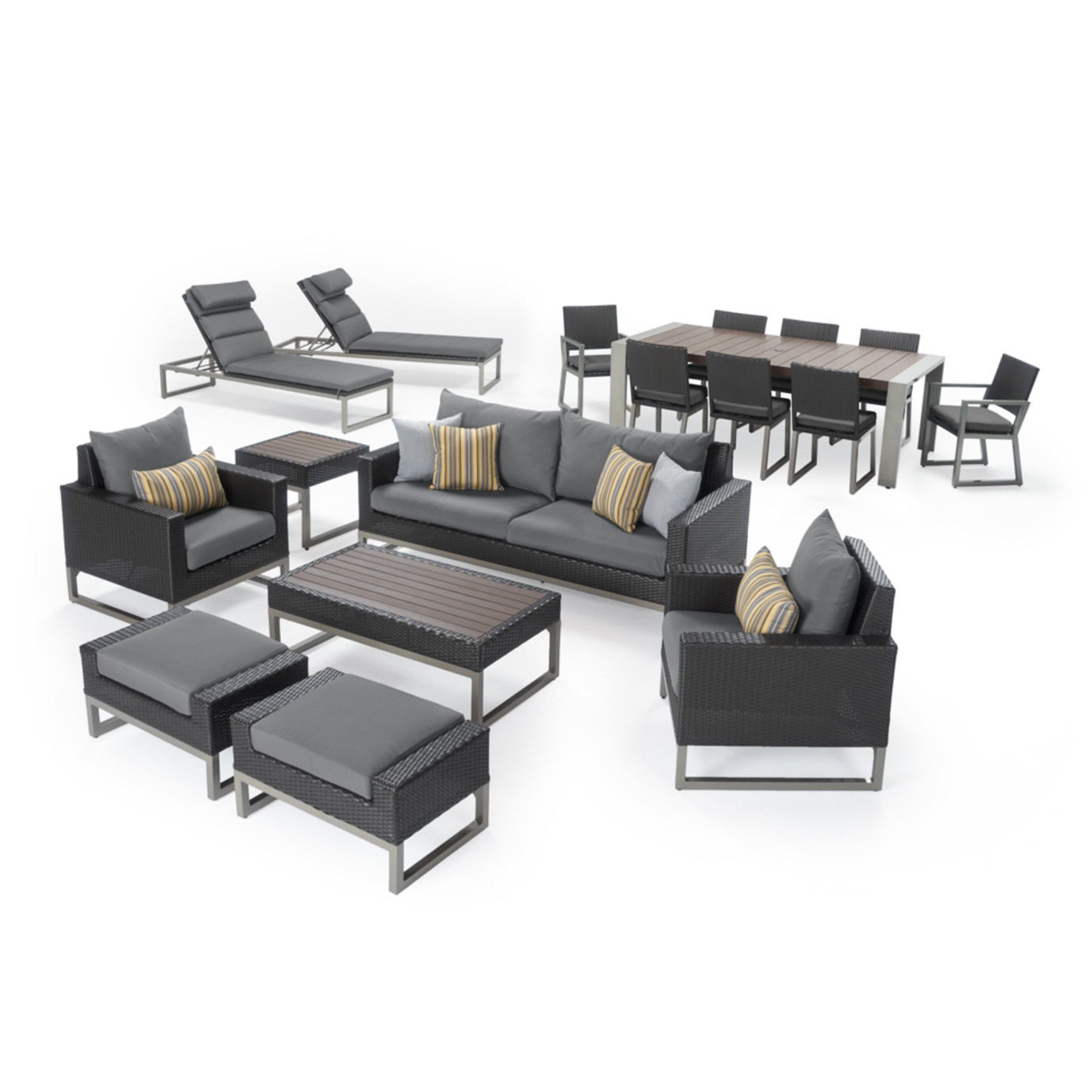 Milo™ Espresso 18 Piece Estate Set - Charcoal Gray