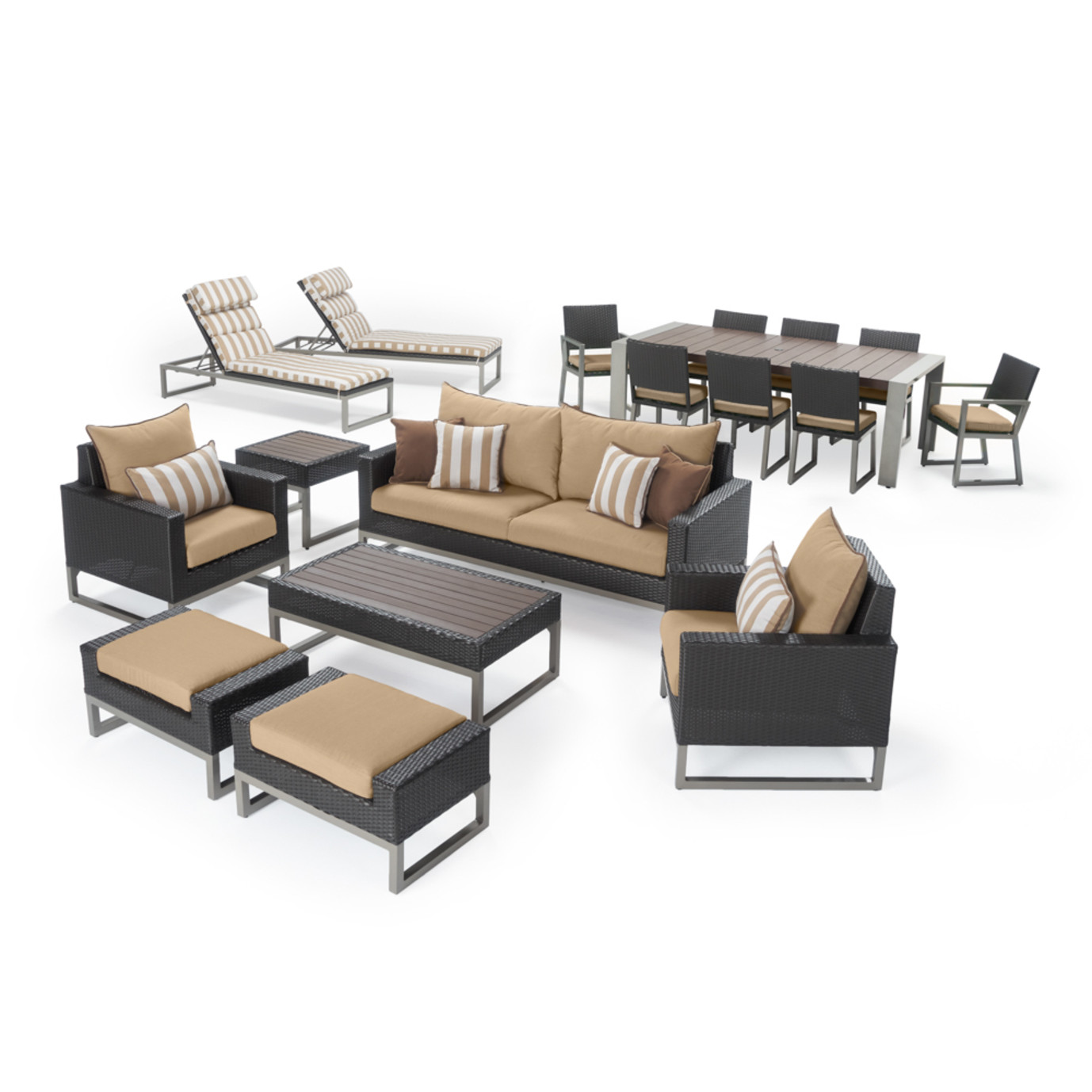 Milo™ Espresso 18pc Estate Set - Maxim Beige