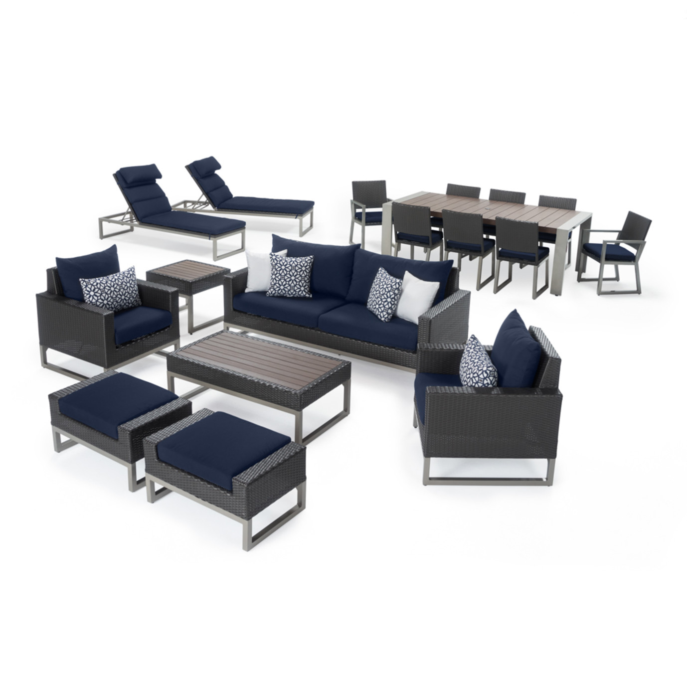 Milo™ Espresso 18 Piece Estate Set - Navy Blue