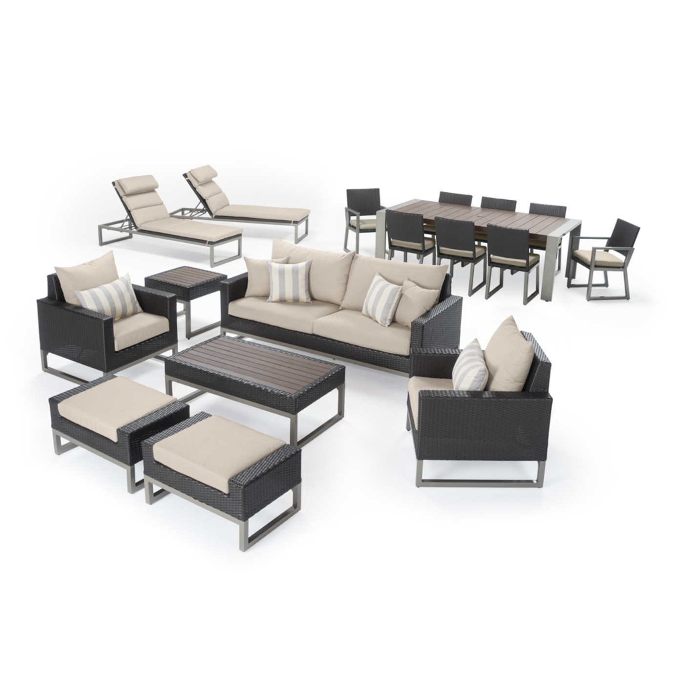 Milo™ Espresso 18 Piece Estate Set - Slate Gray