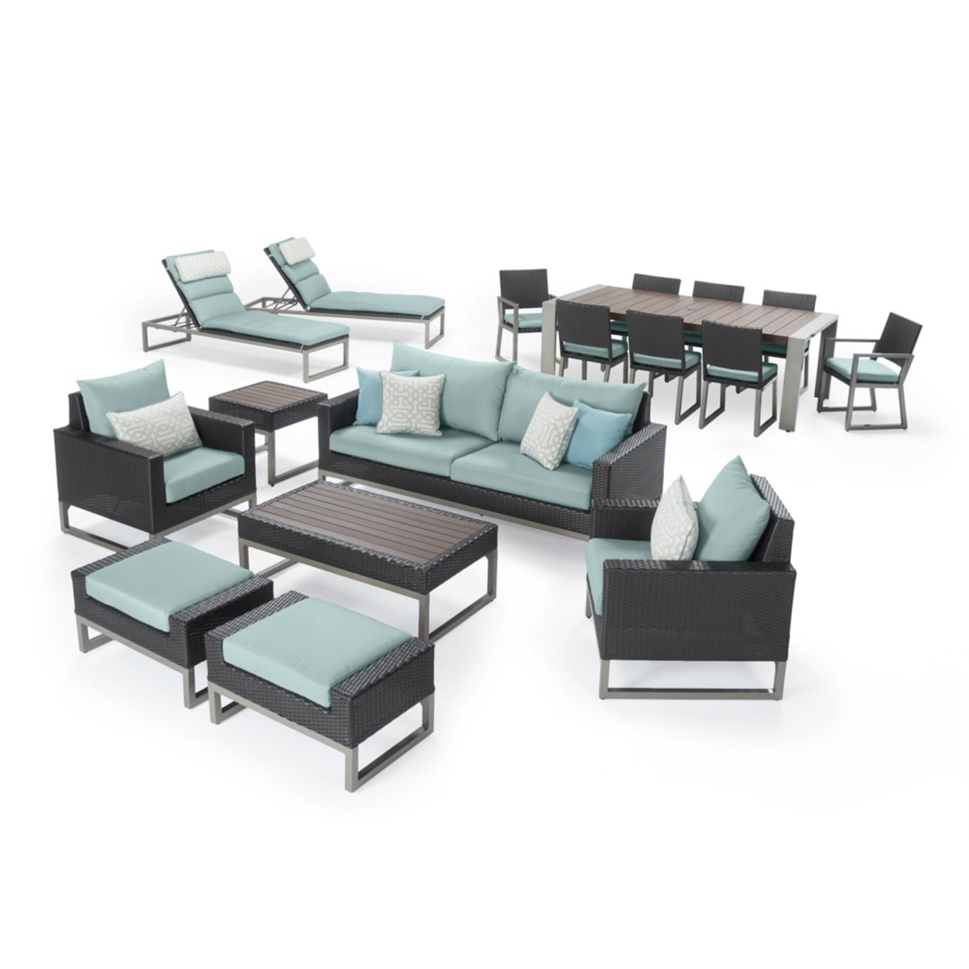 Milo™ Espresso 18pc Estate Set - Spa Blue