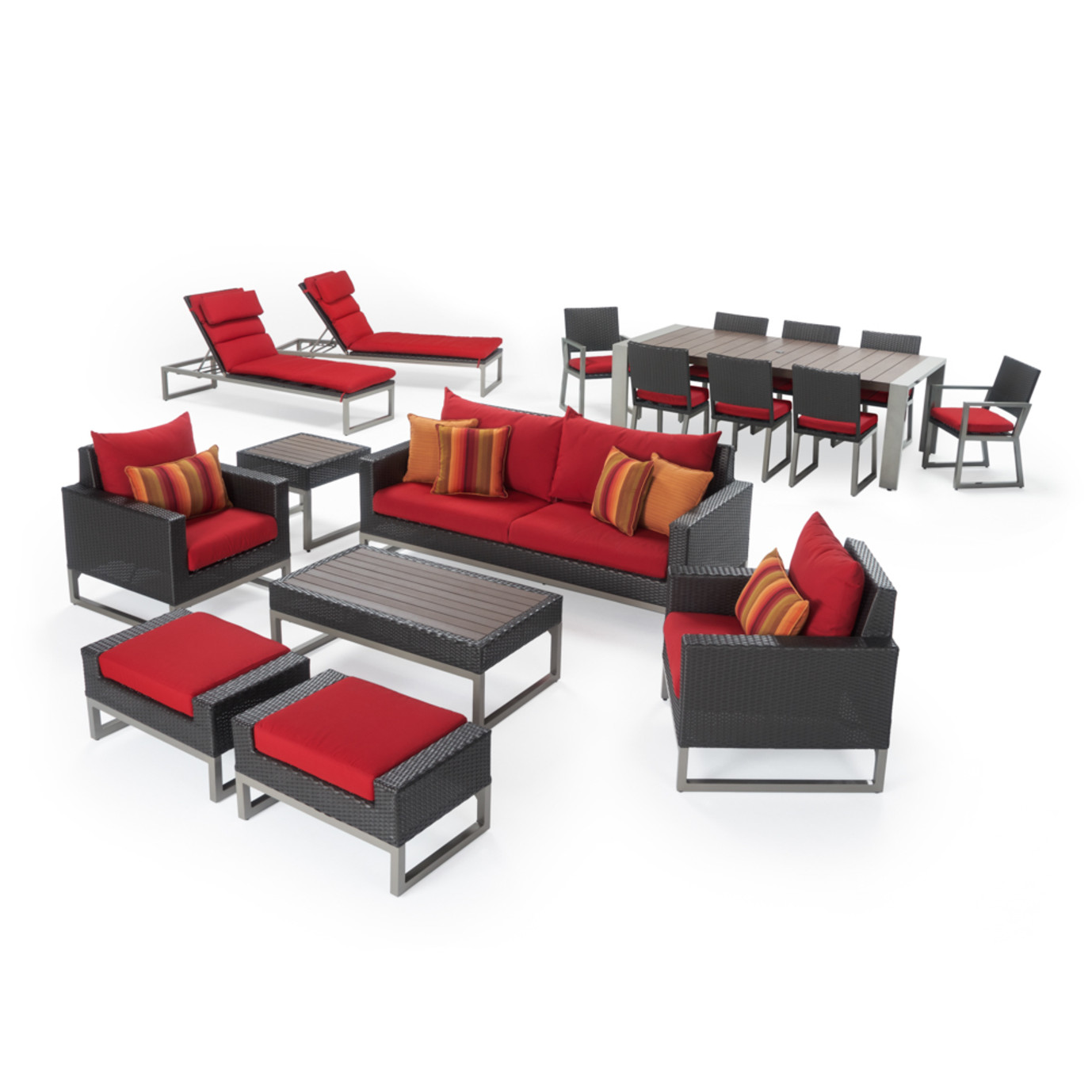 Milo™ Espresso 18 Piece Estate Set - Sunset Red
