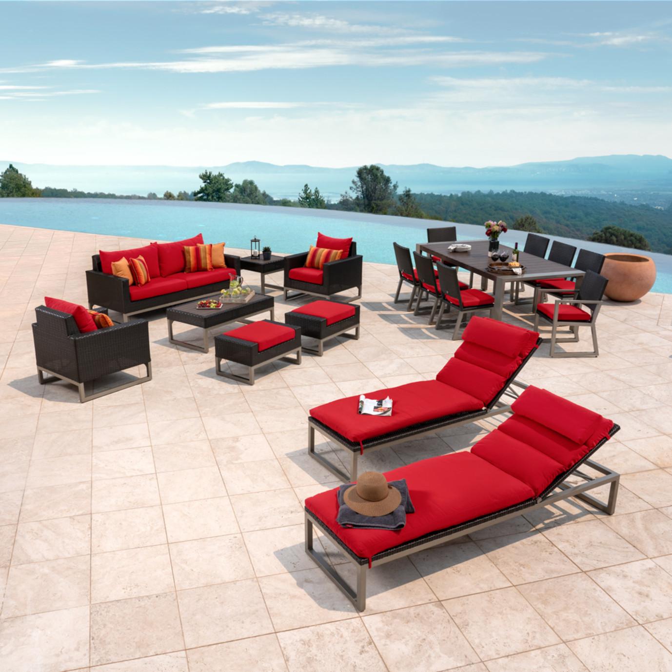 Milo™ Espresso 18pc Estate Set - Sunset Red