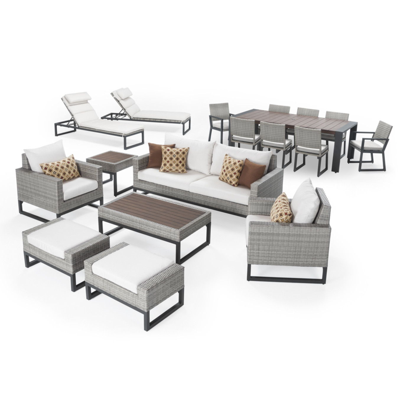 Milo™ Gray 18pc Estate Set - Moroccan Cream