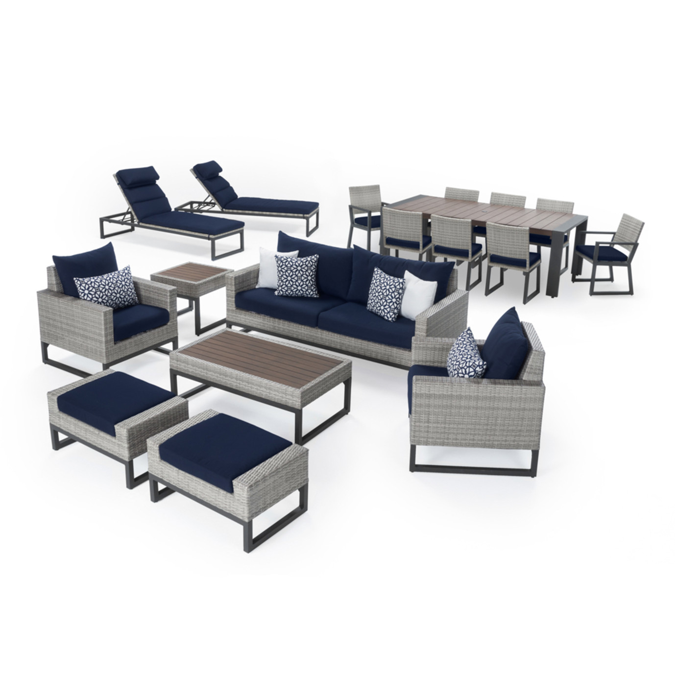 Milo™ Gray 18 Piece Estate Set - Navy Blue