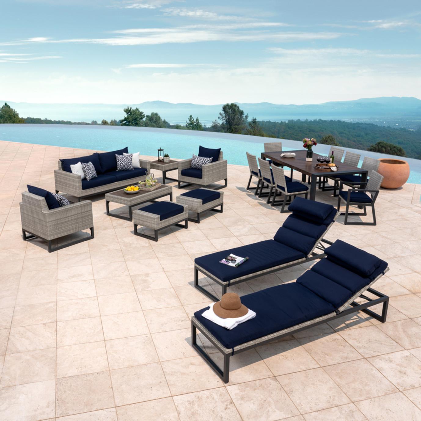 Milo™ Gray 18pc Estate Set - Navy Blue